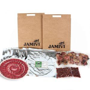 caja de 20 sobres paleta de cebo de campo ibérico jamivi jamon de villanueva de Córdoba jamondecordoba