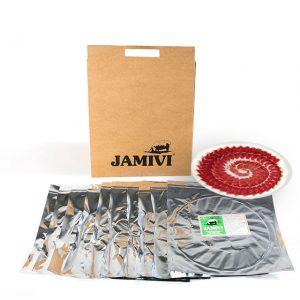 pack de 10 sobres jamón de cebo de campo ibérico jamivi jamon de villanueva de Córdoba jamondecordoba