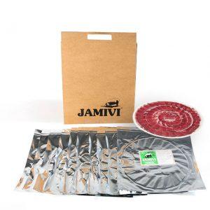 paleta de cebo de campo ibérico jamivi jamon de villanueva de Córdoba jamondecordoba pack de 10 sobres