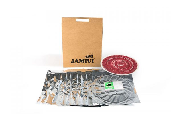 pack de 10 sobres paleta de cebo de campo ibérico jamivi jamon de villanueva de Córdoba jamondecordoba