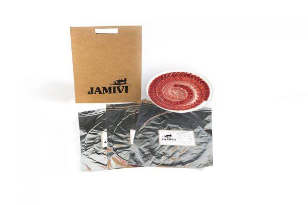 pack de 3 sobres jamón de cebo ibérico jamivi jamon de villanueva de Córdoba jamondecordoba