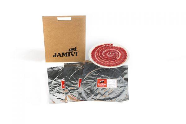 pack de 3 sobres paleta de bellota ibérico jamivi jamon de villanueva de Córdoba jamondecordoba