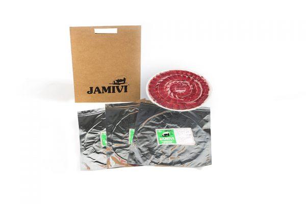 paleta de cebo de campo ibérico jamivi jamon de villanueva de Córdoba jamondecordoba pack de 3 sobres