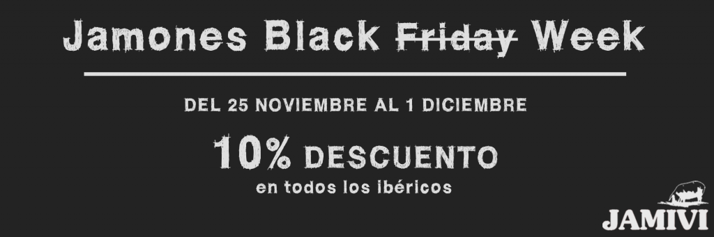jamones black friday week ibericos jamivi