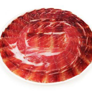 jamón de bellota 100% Ibérico sobre 100 g