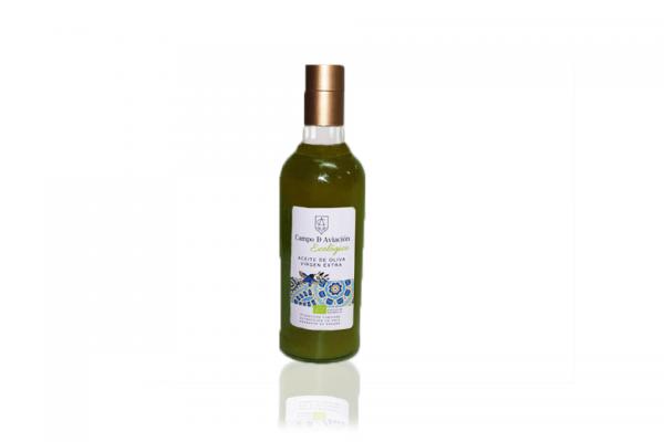 Aceite de oliva virgen extra ecológico hojiblanca Campo de Aviación botella 0,5 litros