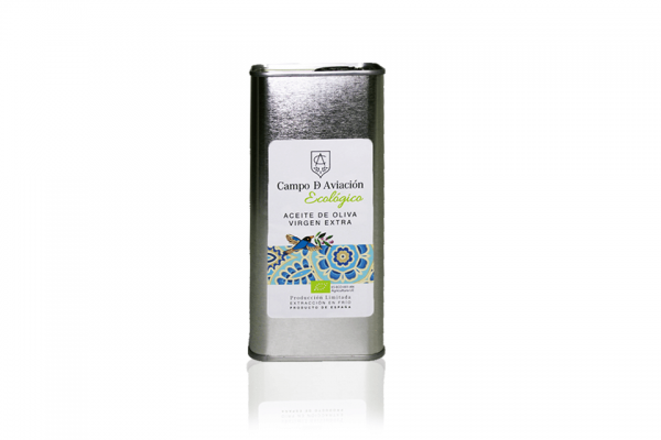 Aceite de oliva virgen extra ecológico hojiblanca Campo de Aviación lata 0,5 litros