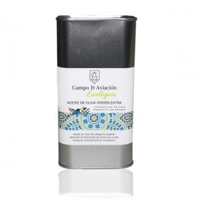 Aceite de oliva virgen extra ecológico hojiblanca Campo de Aviación lata 1 litro